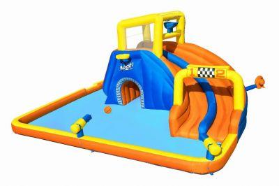 """Bestway H2OGO! 18'1"""" x 16'6"""" x 8'8""""/5.51m x 5.02m x 2.65m Super Speedway Mega Water Park"""