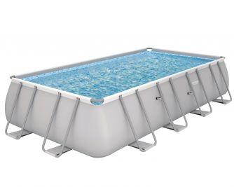 Bestway Power Steel 18' x 9' x 48/5.49m x 2.74m x 1.22m Rectangular Pool