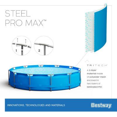 Bestway Steel Pro MAX 12' x 48/3.66m x 1.22m Pool