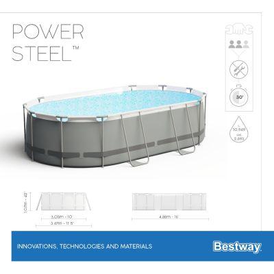 Bestway Power Steel 16'x10'x42/4.88m x3.05m x1.07m Oval Pool