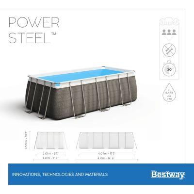 Bestway Power Steel 13'3 x 6'7 x 39.5/4.04m x 2.01m x 1.00m Rectangular Pool