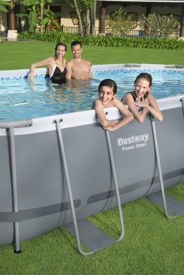 Bestway Power Steel 18' x 9' x 48/5.49m x 2.74m x 1.22m Oval Pool Set
